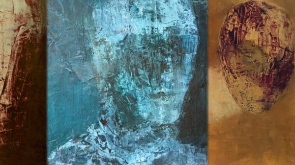 Three Ewa Gargulinska paintings