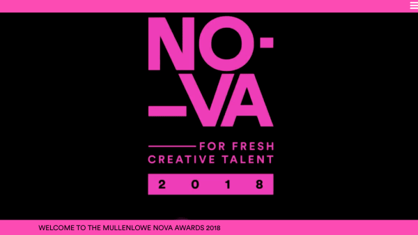 NOVA for fresh creative talent 2018