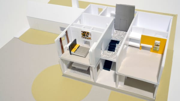 architectural model made on a short course