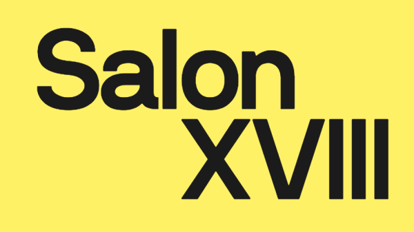 Yellow background with 'Salon XVII' in black typeface.