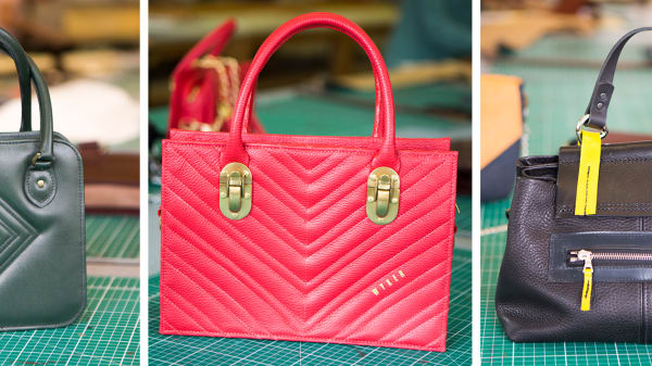Bags made by students