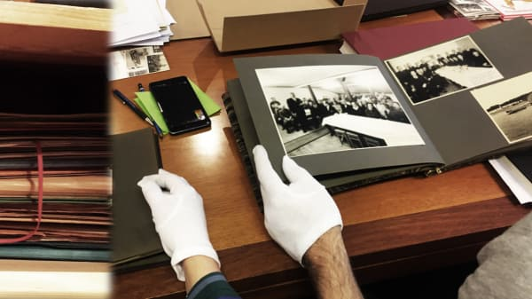 Archive materials being handled