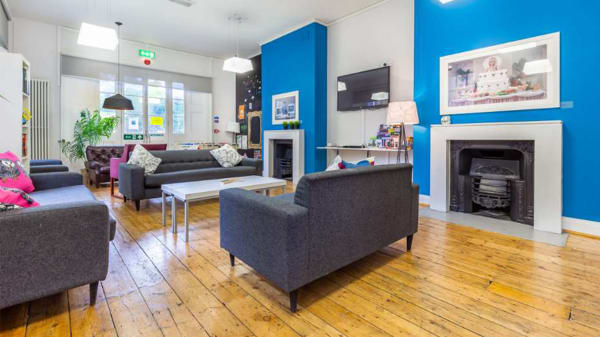 Photo of the common room of a halls of residence at University of the Arts