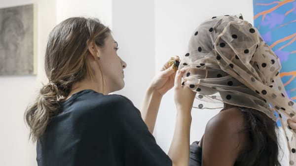 Student Styling a Model