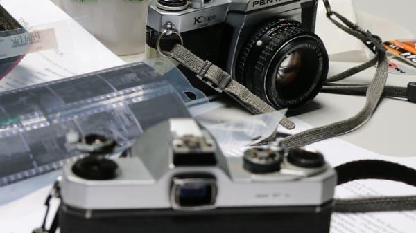 Camera and photo negatives