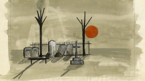 Jocelyn Herbert's set design for Serjeant Musgrave's Dance by John Arden.