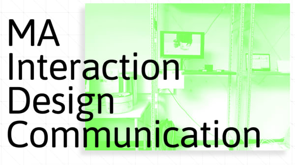 Screenshot of MA Interaction Design Communication website homepage
