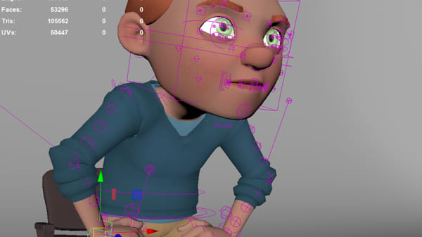 screenshot of animation software Maya