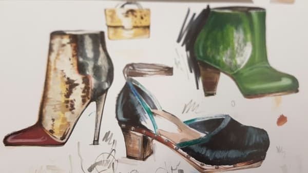 DRAWINF2Pw Fashion Drawing for Footwear and Accessories
