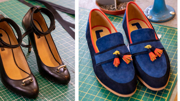 Footwear created by students