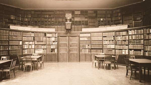 the Warburg Haus, reading room