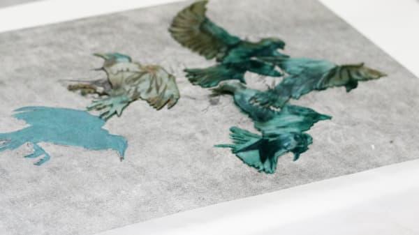 Student work created in printing studio