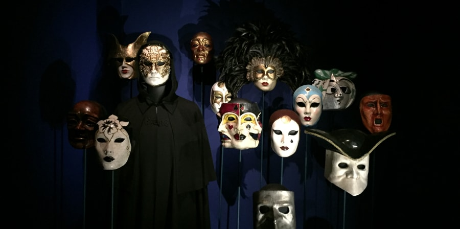 A dislay of theatrical masks