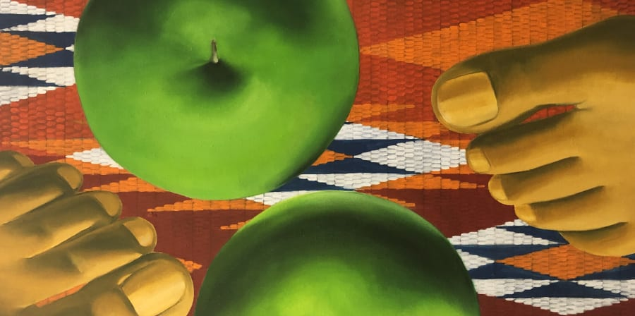 Luchita Hurtado - Fruit painted acrylic on canvas