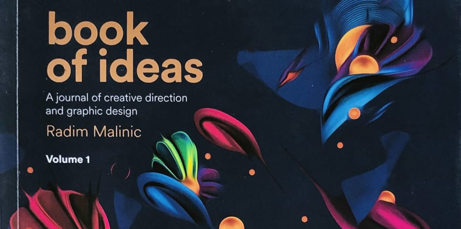 The Book of Ideas front cover, featuring colourful flowers.