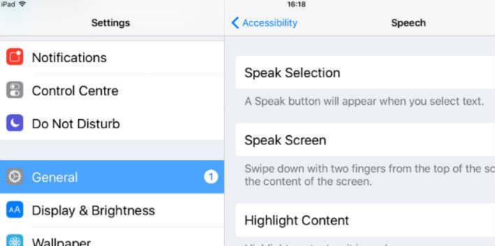 Screenshot of the settings screen on an iPhone
