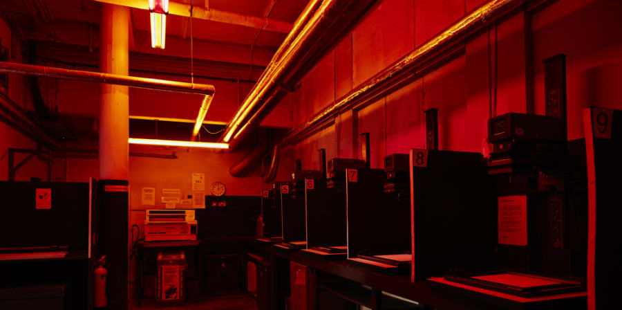 Camberwell photography darkroom.