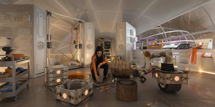 Mars Habitat by Hassell, image credit: HASSELL + Eckersley O'Callaghan