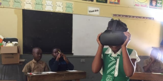 Success School Hanover Jamaica VR workshop with Linett Kamala Linett Kamala 2020