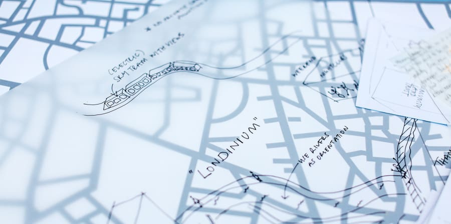 Sketches of road maps