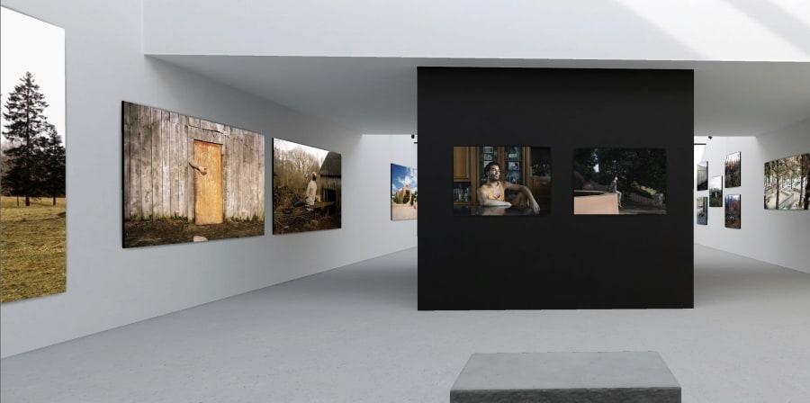 Installation shot of digital exhibition