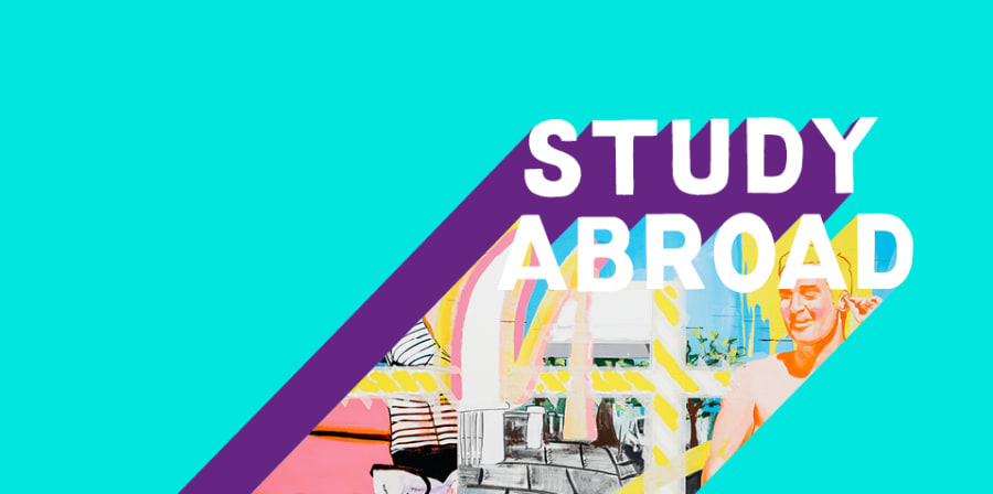 Study Abroad colourful graphic