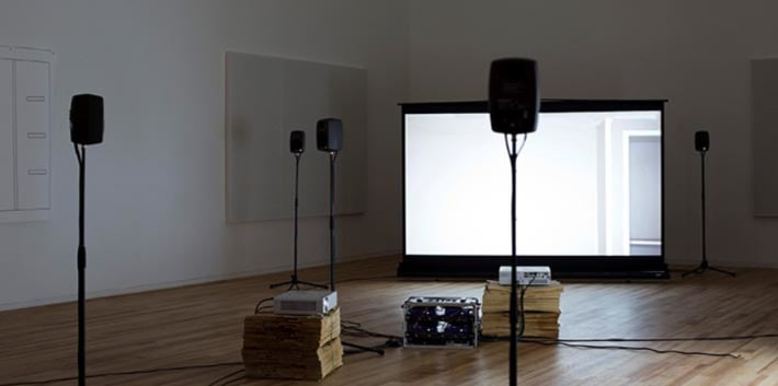 Image of a video art installation by Hannah Rickards