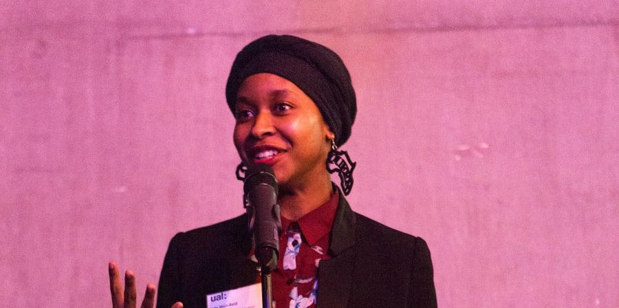 Jade speaking at the AOCA winter showcase