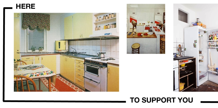 Text on image saying 'here to support you'