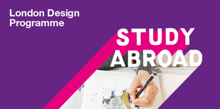 Study Abroad London Programme purple graphic