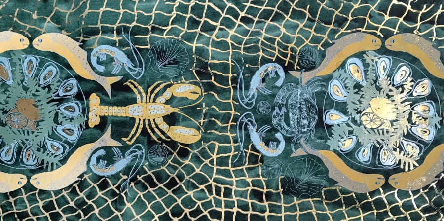 Image of one of Sissell Gustavsen's Precious Fish prints