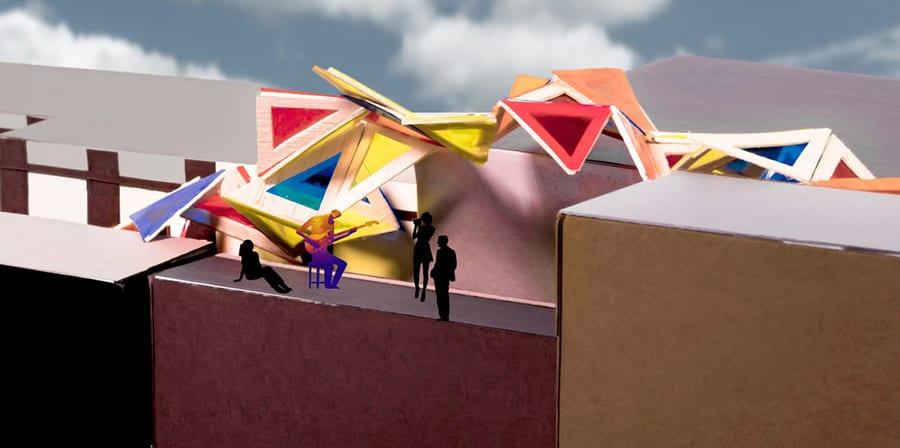 3D model against skyline