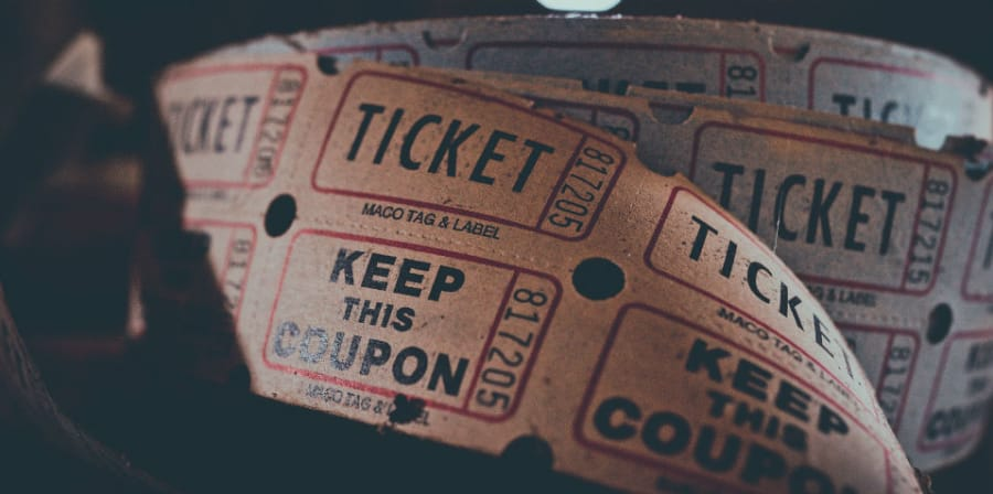 A reel of paper tickets
