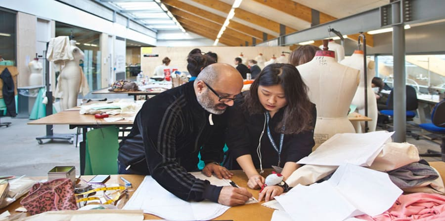 Studetns working in CSM design studio, Granary Building
