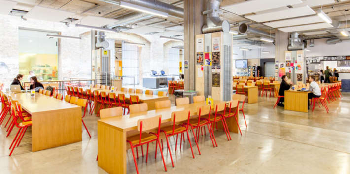 Interior of canteen at Central Saint Martins