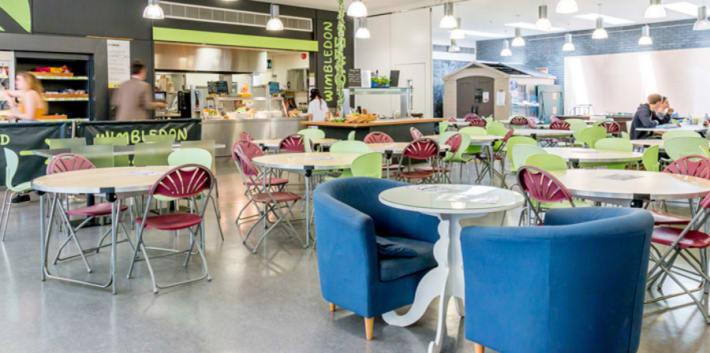Interior of canteen at Wimbledon