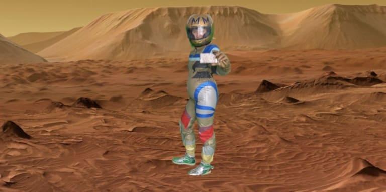 Digital Rendering of Mars Selfie 2019 Denise Ackerl