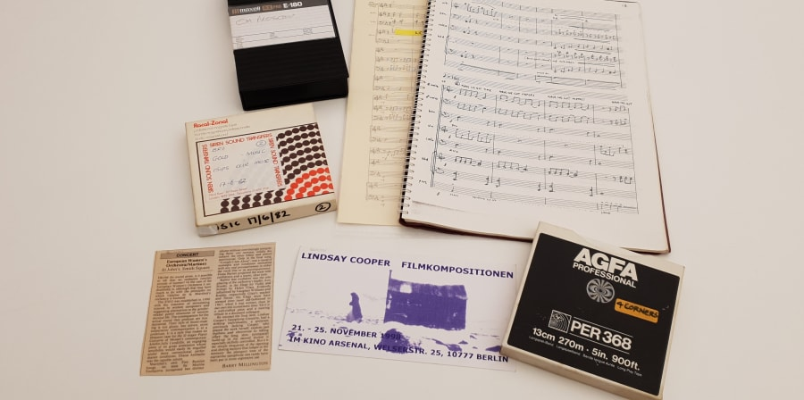 A selection of material from the Lindsay Cooper Archive