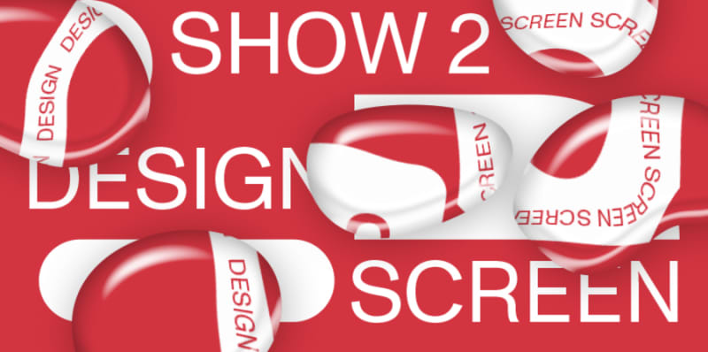 red banner with white text advertising Show 2