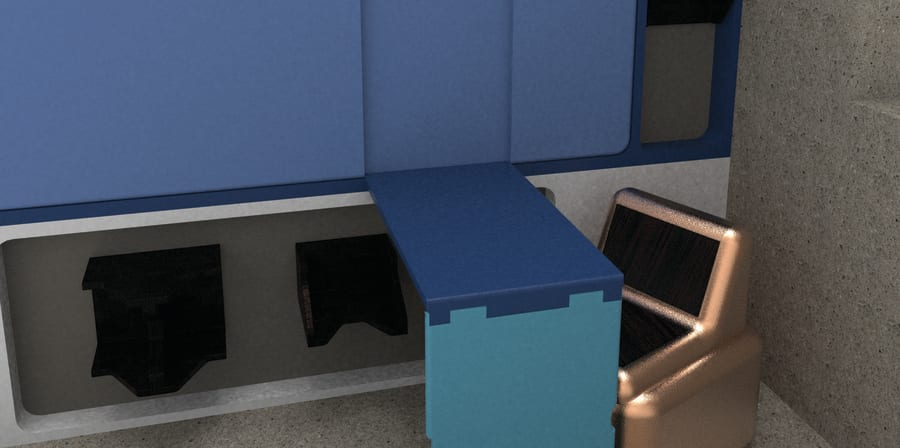 Render of cell furniture design