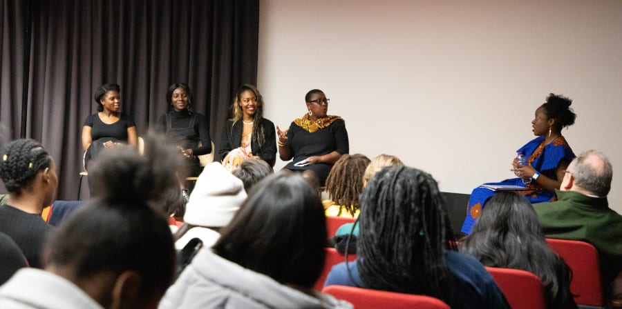 Black Women in PR panel discussion at London College of Communication.