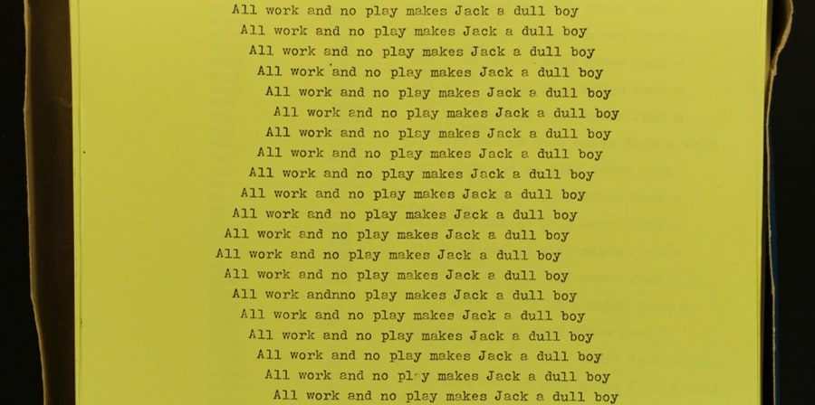 Jack's Manuscript from the Shining, the Stanley Kubrick Archive, University Archives and Special Collections Centre, University of the Arts London