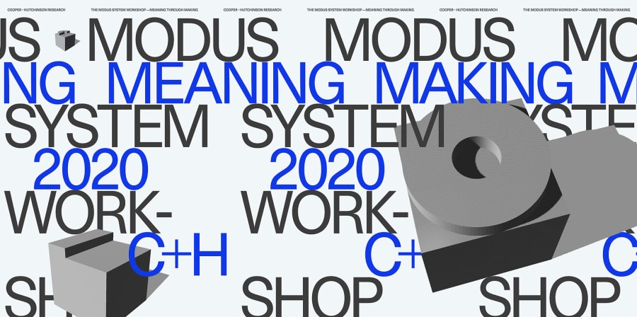 A purple, white and grey banner image for the Modus Project.