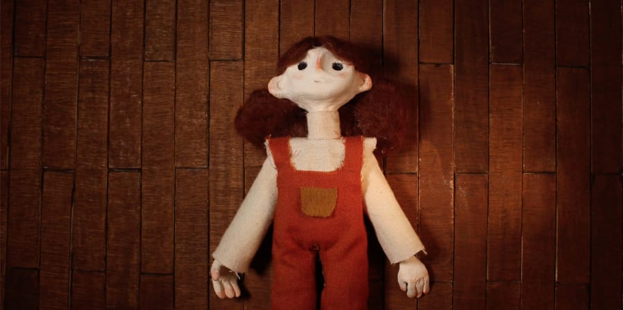 A felt model taken from Mariana Leal's short-film, 'The Anatomy of a Mountain'.