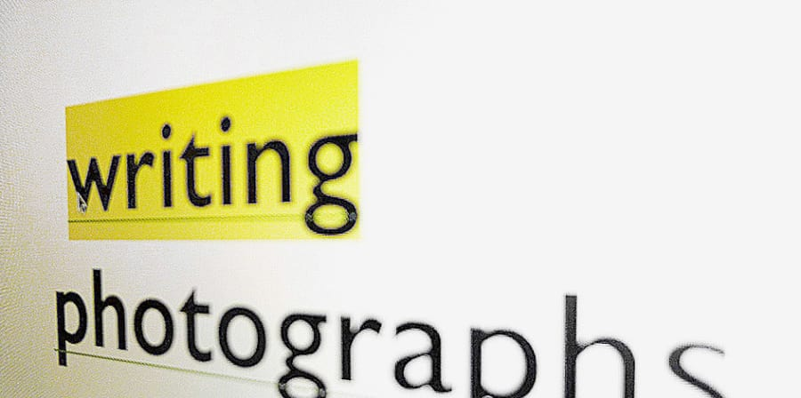 Logo of the Writing Photographs research group