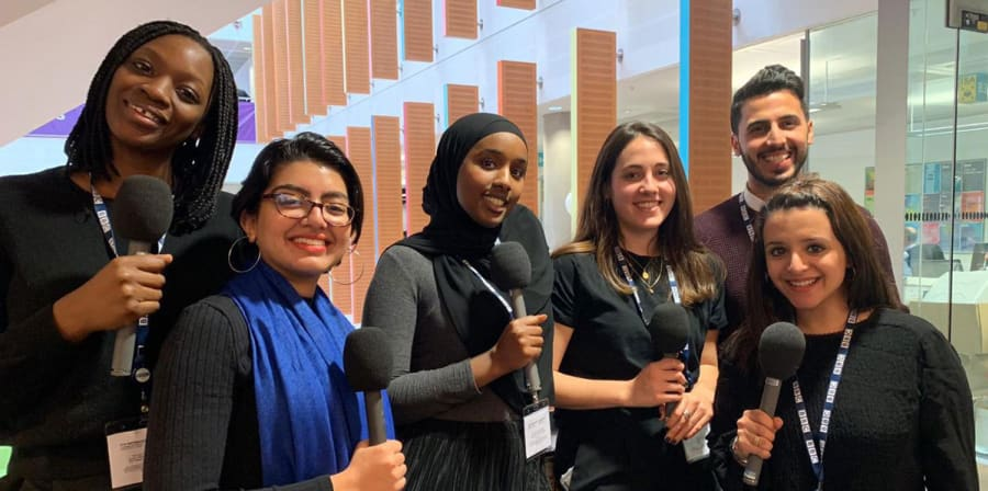 Mariama Wurie and the other BBC Future Voices Trainees