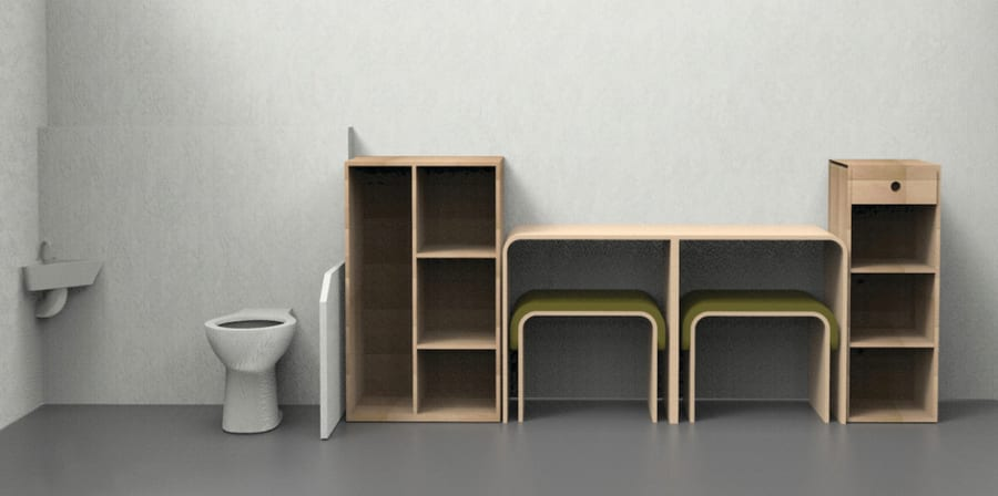 Render of furniture design