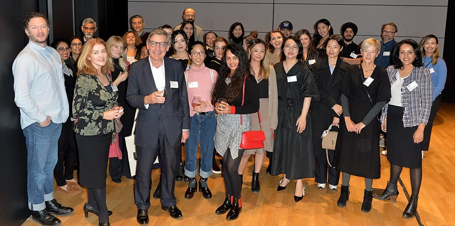 UAL Alumni and Nigel Carrington at event in Toronto