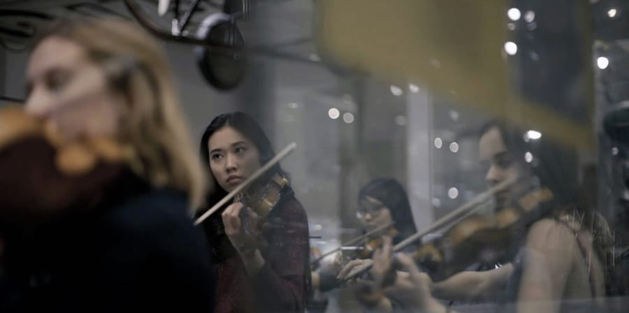 A photograph of an orchestral performance.