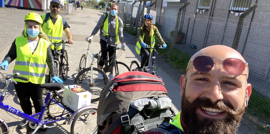 Community of Kurdish Alevi cyclists offered a lifeline to families worst hit by the Covid pandemic